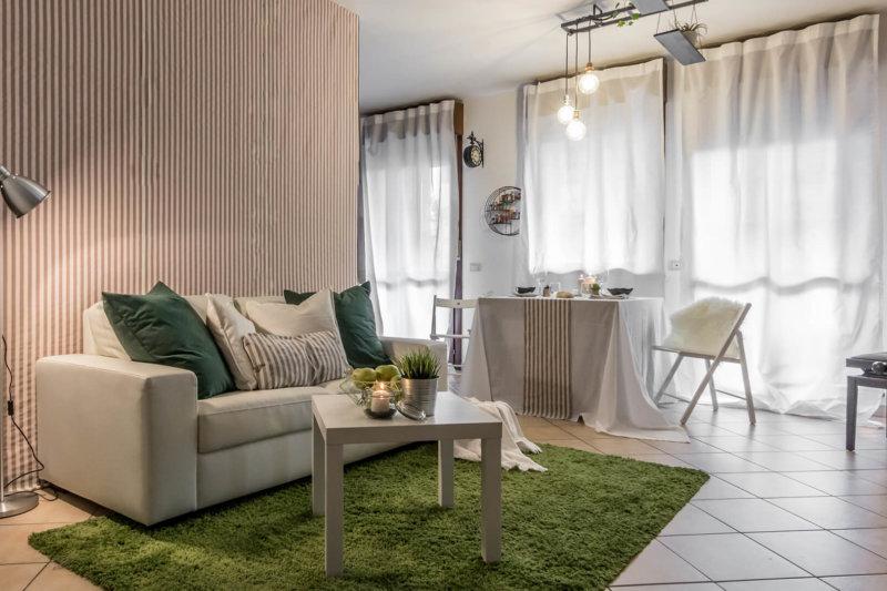 Carta Bianca progetto home staging appartamento in technicolor foto 1